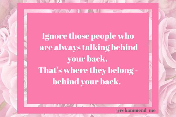 Ignore those