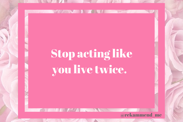 Stop acting