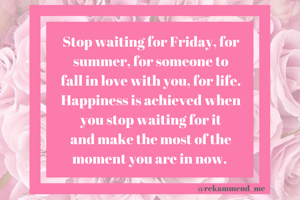Stop waiting for