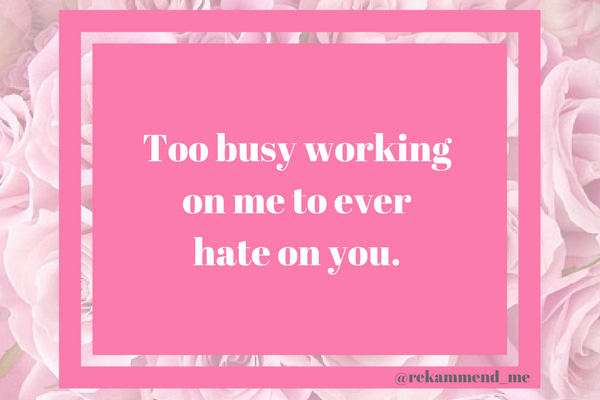 Too busy (1)